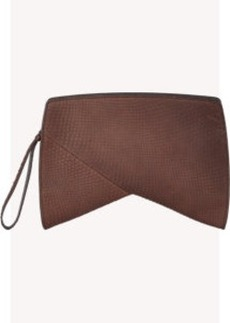 Narciso Rodriguez Python Boomerang Clutch