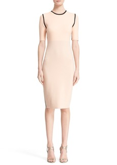 Narciso Rodriguez Reversible Double Knit Sheath Dress