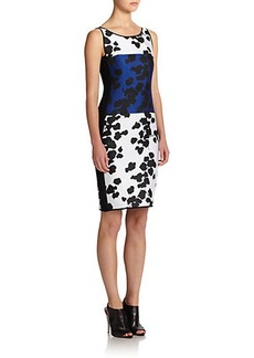 Narciso Rodriguez Reversible Vine-Print Sheath