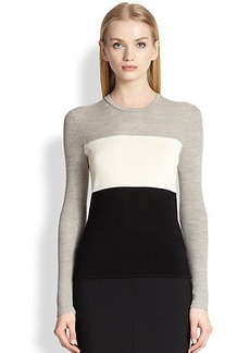 Narciso Rodriguez Rib-Knit Colorblock Top