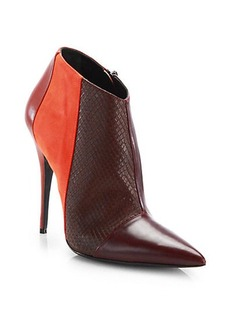 Narciso Rodriguez Sarah Mixed Media Leather & Suede Booties