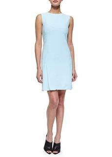 Narciso Rodriguez Scuba Crepe Shift Dress, Light Blue