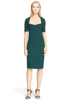 Narciso Rodriguez Scuba Knit Sheath Dress