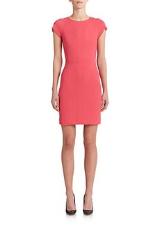Narciso Rodriguez Seamed Cap-Sleeve Sheath