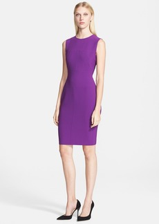 Narciso Rodriguez Seamed Sleeveless Sheath Dress