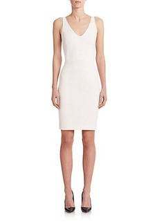 Narciso Rodriguez Seamed V-Neck Sheath