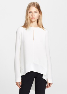Narciso Rodriguez Silk Georgette High/Low Blouse