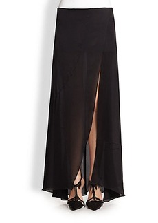 Narciso Rodriguez Silk Satin Maxi Skirt