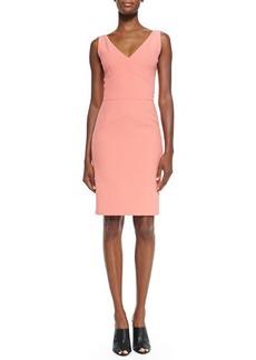 Narciso Rodriguez Sleeveless Bias-Seam Sheath Dress