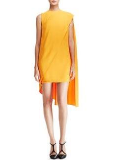 Narciso Rodriguez Sleeveless Cape Dress, Orange