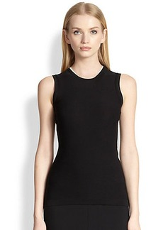 Narciso Rodriguez Sleeveless Contrast-Trim Top