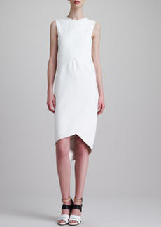 Narciso Rodriguez Sleeveless Draped Dress, White