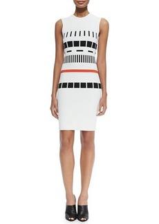 Narciso Rodriguez Sleeveless Reversible Graphic Dress