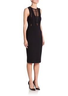 Narciso Rodriguez Sleeveless Ridge Knit Stretch-Wool Dress