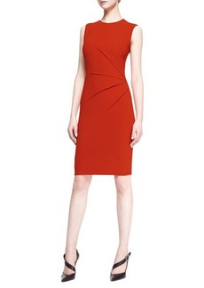 Narciso Rodriguez Sleeveless Side-Seam Sheath Dress, Orange