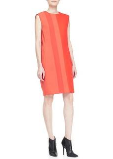 Narciso Rodriguez Sleeveless Two-Tone Shift Dress
