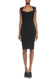Narciso Rodriguez Sweetheart-Neck Dress W/ Double Straps  Sweetheart-Neck Dress W/ Double Straps