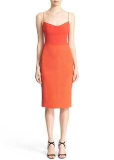Narciso Rodriguez Texture Wool & Crêpe Bustier Dress