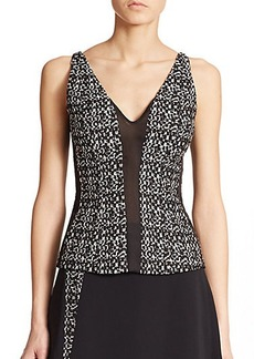 Narciso Rodriguez Tweed Contrast Top