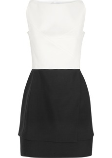 Narciso Rodriguez Two-tone wool mini dress