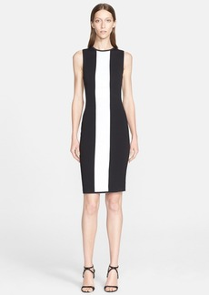 Narciso Rodriguez Wool Blend Reversible Knit Sheath Dress