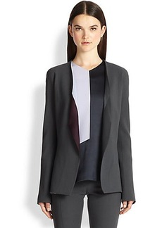 Narciso Rodriguez Wool Crepe Contrast-Lapel Jacket