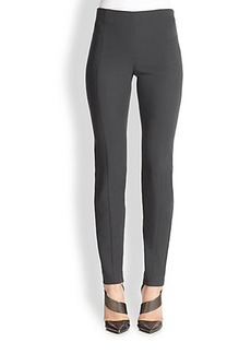 Narciso Rodriguez Wool Crepe Side-Zip Pants