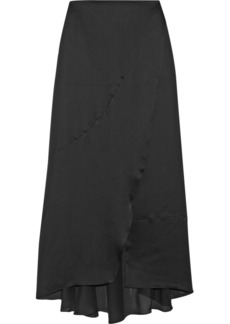 Narciso Rodriguez Wrap-effect matte silk-satin maxi skirt