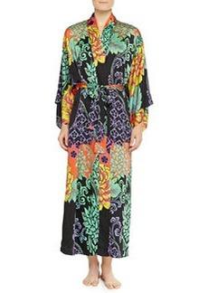 Anna Mixed Floral-Print Kimono Robe   Anna Mixed Floral-Print Kimono Robe