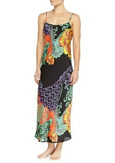 Anna Mixed Floral-Print Long Gown   Anna Mixed Floral-Print Long Gown