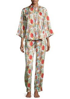 Dynasty Pearl-Print Pajama Set, Multicolor   Dynasty Pearl-Print Pajama Set, Multicolor