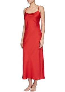 Dynasty Solid Long Gown, Red   Dynasty Solid Long Gown, Red