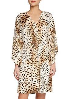 Gabon Short Leopard-Print Caftan   Gabon Short Leopard-Print Caftan