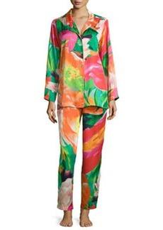 Natori Garbo Floral-Printed Pajama Set, Multicolor