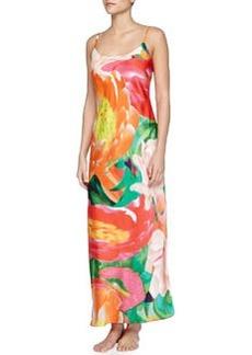 Garbo Printed Long Nightgown, Multicolor   Garbo Printed Long Nightgown, Multicolor