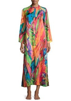 Garbo Printed Zip Caftan, Multi   Garbo Printed Zip Caftan, Multi