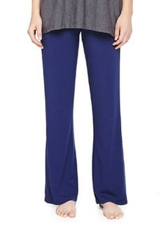 Jersey Drawstring Wide-Leg Pants, Deep Sea   Jersey Drawstring Wide-Leg Pants, Deep Sea