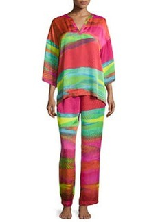 Mirage Mandarin Pajama Set, Multicolor   Mirage Mandarin Pajama Set, Multicolor
