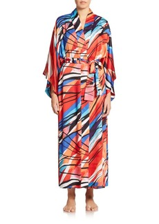 Natori Abstract-Print Robe