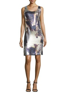Natori Anzu Printed Sequin Dress, Multicolor