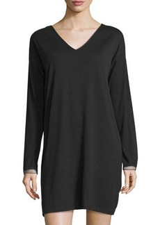 Natori Aria Ribbed V-Neck Sleepshirt
