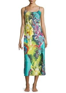 Natori Awai Floral-Printed Long Gown