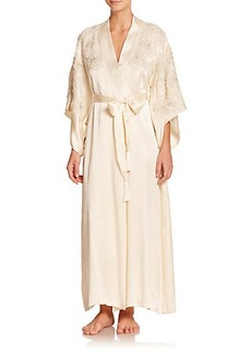Natori Beaded Peony Silk Robe