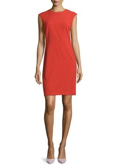 Natori Bias-Cut Woven Sheath Dress, Tomato Red