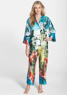 Natori 'Birds of Paradise' Charmeuse Pajamas