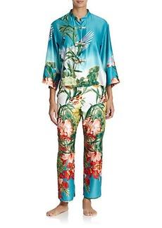 Natori Birds of Paradise Mandarin Pajamas