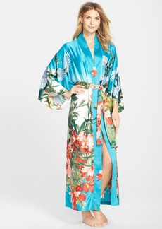 Natori 'Birds of Paradise' Satin Robe
