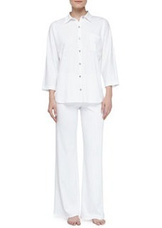 Natori Bliss Pima Tunic Pajamas, White