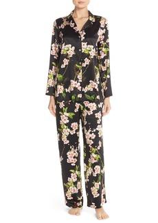 Natori 'Blossom' Floral Charmeuse Pajamas
