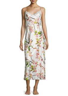 Natori Blossom Gown W/Lace Inset